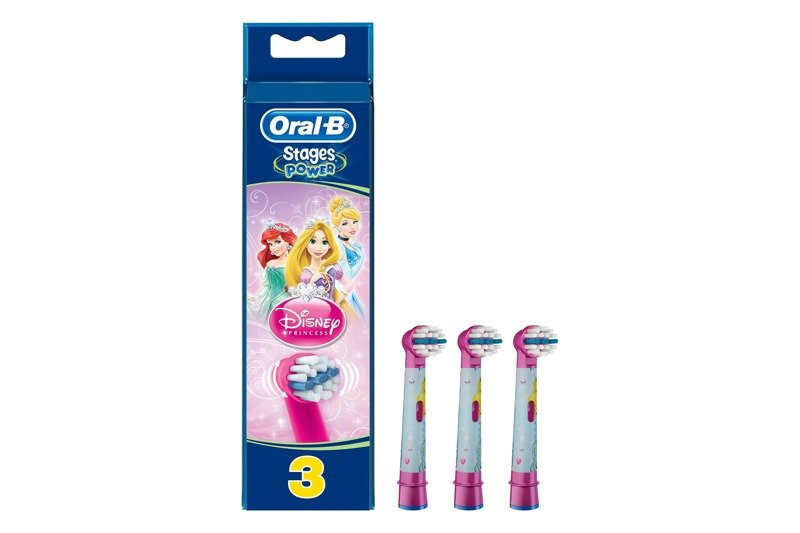 New Braun Oral-B 3x Replacement Brush Heads Stages Power Disney Princesses